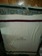 1944 Wwii Md U.s. Army Wool Blanket Medical Department Cream And Burgundy 81x 62
