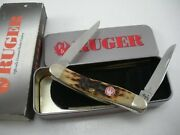 2007 Case Bone Ruger Muskrat Knife Never Used In Box 6318 Ss