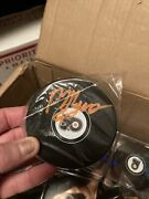 Autographed Philippe Phil Myers Signed Philadelphia Flyers Hockey Puck 61