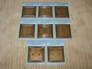 Lot Of 8 Brainerd Double Switch Wall Plate Covers Tumbled Antique Brass - New