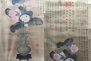 Vintage Chinese Hanging Scroll After Jiang Tingxi 1669-1732 Calligraphy Seals