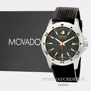 Authentic Movado 800 Series Black/orange Stainless Steel Menand039s Watch 2600099