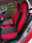 Car Seat Covers 2 Pcs   Made For Smart   Leatherette And Synthetic Combinations