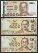 2004 - 17 Thailand 1000 Baht Last 3 Digit Serial Number Macthed Unc Rare