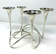 Mid Century Gorham Sterling Silver Fountain Candelabra Sectional 2 Pc