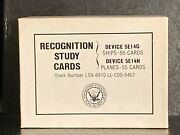 1983 Recognition Study Cards U.s. Navy Training Survival Ships And Aircraft