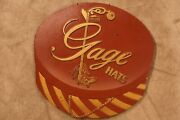 1940and039s-1950and039s Gage Hats Advertising Sign 5th Ave Ny Rare Brand