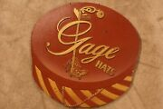 1940's-1950's Gage Hats Advertising Sign 5th Ave Ny Rare Brand