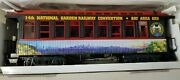 Lgb 30808 Bay Area Convention Coach 1998 Lights Metal Wheels G Scale New In Box