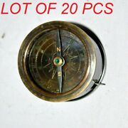 Nautical Vintage 2 Brass Compass And Measuring Tape Collectible Antique Gift