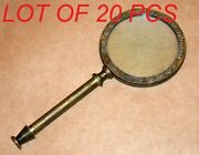 Antique Vintage Brass 9.5 Henry Hughes Magnifying Glass Magnifier Collectible