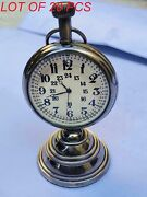 Vintage Nautical Beautiful Brass Table Top Decor Clock With Stand Collectible