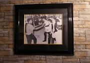 Framed Muhammad Ali Signed Photo With The Beatles With C.o.a