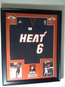 Lebron James Framed Jersey Game Used Jersey Card 1/1 Miami Heat Cavs Lakers