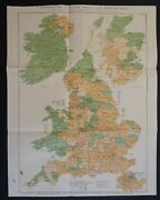 Antique Parliamentary Map Of Great Britain And Ireland 1886 Irish Home Rule