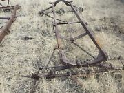 Ford Model T Frame And Axles For Parts Or Yard Art Only.