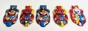 Five Vintage Toy Clickers Made In Japan Pirate Cowboy Clown Collection Lot