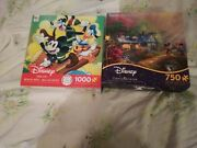 Lot Of 2 Disney Jigsaw Puzzles 750ct And1000ct
