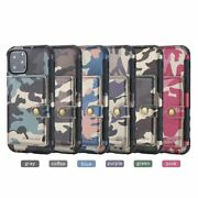 10pcs/lot Camouflage Army Camo 2 In 1 Flip Wallet Card Holder Leather Back Case