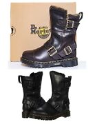 New Dr. Martens Womenand039s Fashion Kristy Mid Calf Leather Boots W Faux Fur Soft