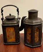 Antique Chinese Tea Pot And Matching Tea Caddy With Decorative Panels, Late Xixc.
