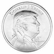 2 Donald J. Trump 45th President 1 Oz .999 Silver Rounds - 2 Rounds