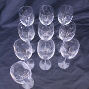 Orrefors Illusion Glass Works Set Of 10 Sweden Clear Water Goblets