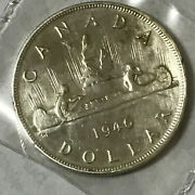 Canada 1946 Silver Dollar Nice Coin As Pictured