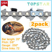 For Husqvarna 20 Chainsaw Chain For 55 450 455 Rancher 460 .3/8 Pitch 50g 72dl