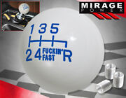 For Toyota Jdm Vip Twist-on Round Ball Type 6spd Manual Lever Shift Knob Blue