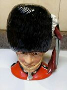 Giant Toby Jug/ Characterthe Guardsman/ From England /8.25 Tall