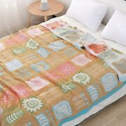 Cotton Throw Blanket Bed Sofa Lightweight Breathable Blankets Bedding Plaid