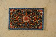 Handmade Carved Painted Wall Hanging Panel Colorful Home Decor Indian Furniture