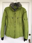 E And O Woman's Lime Green Ski Jacket Size 10 With Recco Rescue System.
