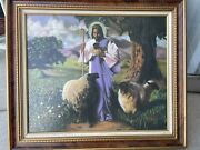 The Good Shepard Framed Painting By Alan Hicks