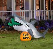 9 Ft Animated Caught By Shark Halloween Airblown Yard Inflatable