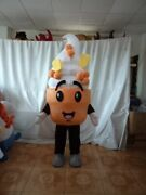 Halloween Ice Cream Mascot Costume Cosplay Party Dress Clothing Carnival