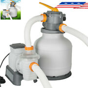 Bestway 2200 Gallon Above Ground Swimming Pool Sand Filter Pump 58500e Home Pool