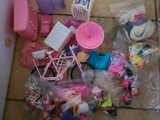 Huge Mixed Lot Of Vintage Barbie Doll Accessories Shoes Hats Purses Etcs