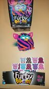 Hasbro Furby Boom 2013 Blue Pink Orange Stripes Interactive Talking Toy Tested
