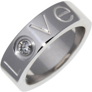 Christmas 2006 Only K18wg Love Ring Limited Ed B40723 White Gold 3.5 Us