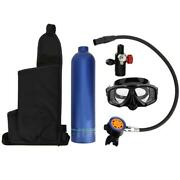 1l Blue Oxygen Cylinder Rebreather Pure Metal Secondary Breathing Valve Heads