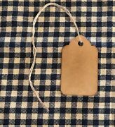 50 Xsmall Coffee Stained Primitive Antique Store Price Gift Hang Tags Lot