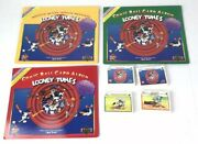 Vtg 90s Looney Tunes 3 Comic Ball Card Albums 4 Sealed Trading Cards Chuck Jones