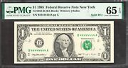 1 1995 Frn=fancy Number=solid Fours B44444444a=pmg Gem Uncirculated 65epq
