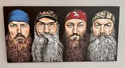 Duck Dynasty Hand Painted Canvas Duck Commander