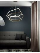 Suspended Lights To Led And Aluminum Dimmable Modern Design Gold