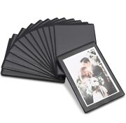 Black Magnetic Picture Frames With Clear Cover For 4 X 6 Inch Photos-15 Pack