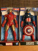 """Marvel Iron Man And Captain America 9"""" Action Figures Hasbro New"""