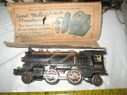Lionel Prewar 262 Engine With What Is Left Of A Box. Cow Catcher Broke.